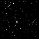 Αστέρια πυροβολισμού Στοκ εικόνα με δικαίωμα ελεύθερης χρήσης