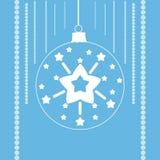 Αστέρια σε μια σφαίρα Χριστουγέννων Στοκ φωτογραφίες με δικαίωμα ελεύθερης χρήσης