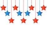 Αστέρια στα αμερικανικά χρώματα διανυσματική απεικόνιση