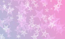 Αστέρια στο μπλε και το ροζ ελεύθερη απεικόνιση δικαιώματος