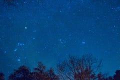 Αστέρια στο νυχτερινό ουρανό Στοκ Εικόνες