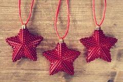 αστέρια τρία Χριστουγέννων Στοκ φωτογραφία με δικαίωμα ελεύθερης χρήσης