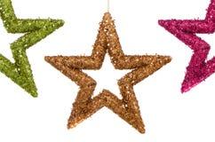 αστέρια τρία Χριστουγέννω&nu Στοκ φωτογραφίες με δικαίωμα ελεύθερης χρήσης