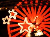 Αστέρια Χριστουγέννων bokeh στην Καρλσρούη στοκ εικόνες