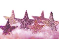 Αστέρια χρώματος στο άσπρο υπόβαθρο Στοκ φωτογραφία με δικαίωμα ελεύθερης χρήσης