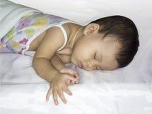αστέρια ύπνου φεγγαριών μωρών κίτρινα Στοκ Εικόνα