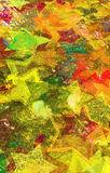 Αστέρια Grunge στον τοίχο Στοκ Εικόνα