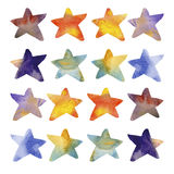 Αστέρια Watercolour Στοκ εικόνες με δικαίωμα ελεύθερης χρήσης