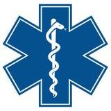 Αστέρι έκτακτης ανάγκης - ιατρικό πνεύμα φιδιών κηρυκείων συμβόλων Στοκ Φωτογραφίες