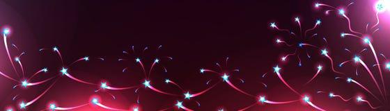 Αστέρι έμβλημα γραμμών φωτεινό απεικόνιση αποθεμάτων