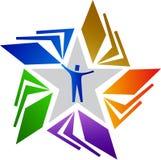 αστέρι ανθρώπων λογότυπων Στοκ Εικόνα