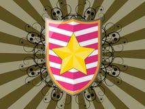 αστέρι ασπίδων Στοκ φωτογραφία με δικαίωμα ελεύθερης χρήσης