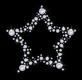 αστέρι διαμαντιών Στοκ εικόνα με δικαίωμα ελεύθερης χρήσης