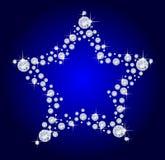 αστέρι διαμαντιών Στοκ Φωτογραφίες