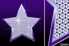 αστέρι διαμαντιών Στοκ εικόνες με δικαίωμα ελεύθερης χρήσης