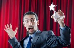 αστέρι επιχειρηματιών βρα&be Στοκ φωτογραφία με δικαίωμα ελεύθερης χρήσης