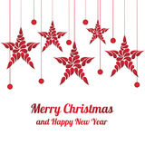Αστέρι διακοσμήσεων Χριστουγέννων Χαρούμενα Χριστούγεννα και καλή χρονιά Στοκ Φωτογραφίες