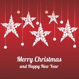 Αστέρι διακοσμήσεων Χριστουγέννων Χαρούμενα Χριστούγεννα και καλή χρονιά Στοκ εικόνες με δικαίωμα ελεύθερης χρήσης