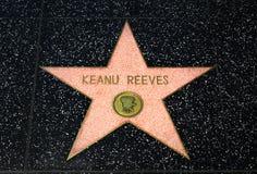 Αστέρι διαχειριστών του Keanu στον περίπατο Hollywood της φήμης στοκ εικόνα