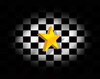 Αστέρι και ελεγμένη σημαία ελεύθερη απεικόνιση δικαιώματος