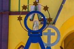 Αστέρι και σταυρός στοκ φωτογραφία