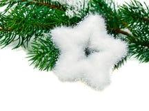 Αστέρι και τρία Χριστουγέννων Στοκ Φωτογραφίες