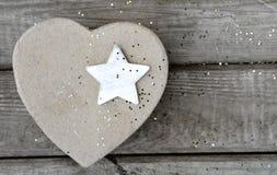 Αστέρι καρδιά-διαμορφωμένη Στοκ φωτογραφίες με δικαίωμα ελεύθερης χρήσης