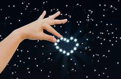 αστέρι καρδιών Στοκ Εικόνες