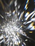 Αστέρι κρυστάλλου με τις διαθλάσεις στοκ φωτογραφίες