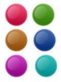 αστέρι κύκλων κουμπιών Στοκ Εικόνες