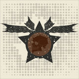 Αστέρι με τα φτερά και ένα κρανίο Στοκ φωτογραφία με δικαίωμα ελεύθερης χρήσης