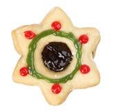 αστέρι μορφής μπισκότων Χρι&si Στοκ Φωτογραφία