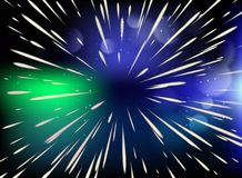 Αστέρι Πέταγμα μέσω των αστεριών στη ταχύτητα του φωτός ελεύθερη απεικόνιση δικαιώματος