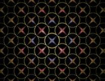 αστέρι προτύπων κύκλων στοκ εικόνες με δικαίωμα ελεύθερης χρήσης