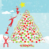 Αστέρι σε ένα χριστουγεννιάτικο δέντρο Στοκ φωτογραφίες με δικαίωμα ελεύθερης χρήσης