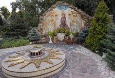 Αστέρι 14 σημείο της Βηθλεέμ, τόπος γεννήσεως αστεριών Χριστουγέννων του Ιησού C Στοκ φωτογραφία με δικαίωμα ελεύθερης χρήσης