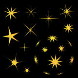 Αστέρι στο σκοτεινό διάνυσμα υποβάθρου συλλογής ελεύθερη απεικόνιση δικαιώματος
