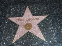 Αστέρι της Carol Channing σε Hollywood Στοκ φωτογραφία με δικαίωμα ελεύθερης χρήσης