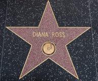 Αστέρι της Diana Ross στον περίπατο της φήμης στοκ εικόνα