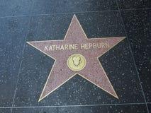 Αστέρι της Katherine hepburn στο hollywood Στοκ Εικόνες