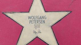 Αστέρι του Βόλφγκανγκ Petersen στα αστέρια λεωφόρων der, περίπατος της φήμης στο Βερολίνο απόθεμα βίντεο