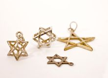 αστέρι του Δαβίδ εξαρτημάτων Στοκ φωτογραφία με δικαίωμα ελεύθερης χρήσης