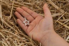 Αστέρι του Δαβίδ σε ένα χέρι Στοκ Φωτογραφίες