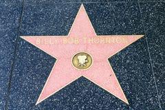 Αστέρι του Μπίλι Μπομπ Θόρντον στον περίπατο Hollywood της φήμης Στοκ Φωτογραφία