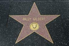 Αστέρι του Μπίλι Gilbert στον περίπατο Hollywood της φήμης στοκ εικόνες
