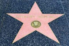 Αστέρι του Anthony Hopkins στον περίπατο Hollywood της φήμης Στοκ εικόνες με δικαίωμα ελεύθερης χρήσης