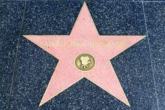 Αστέρι του Anthony Hopkins στον περίπατο Hollywood της φήμης Στοκ Εικόνα