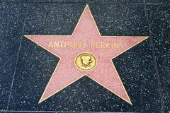 Αστέρι του Anthony Perkins στον περίπατο Hollywood της φήμης Στοκ Φωτογραφία