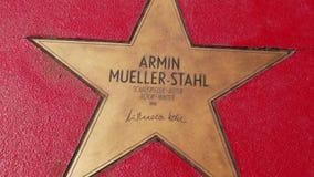 Αστέρι του Armin Mueller-Stahl στα αστέρια λεωφόρων der, περίπατος της φήμης στο Βερολίνο φιλμ μικρού μήκους