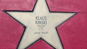 Αστέρι του Klaus Kinski στα αστέρια λεωφόρων der, περίπατος της φήμης στο Βερολίνο φιλμ μικρού μήκους